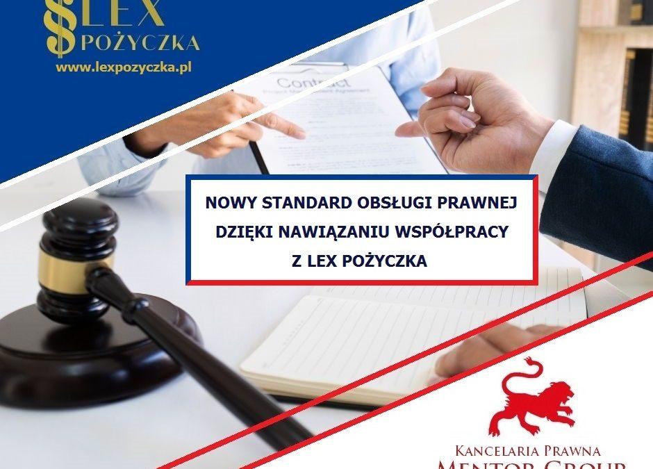 Nawiązanie współpracy zLex Pożyczka sp. zo.o.